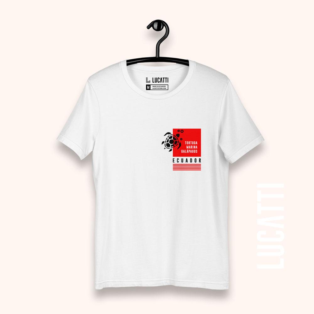 Camiseta con estampado de bolsillo Galápagos Tortuga hombre