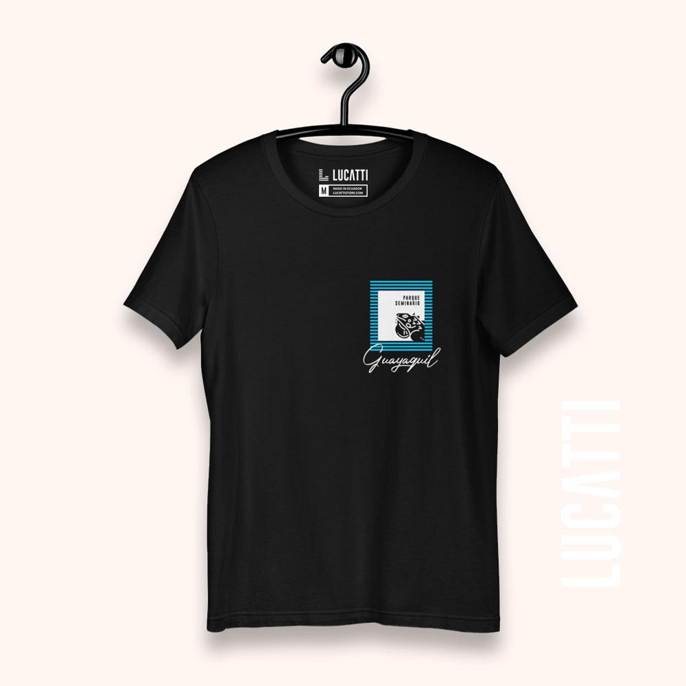 camiseta con estampado de bolsillo Guayaquil Parque Las Iguanas para hombre