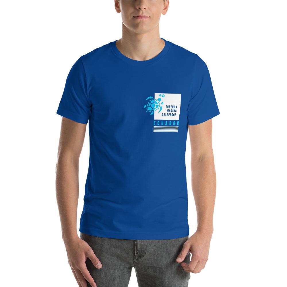 Camiseta con estampado de bolsillo Galápagos tortuga hombre premium