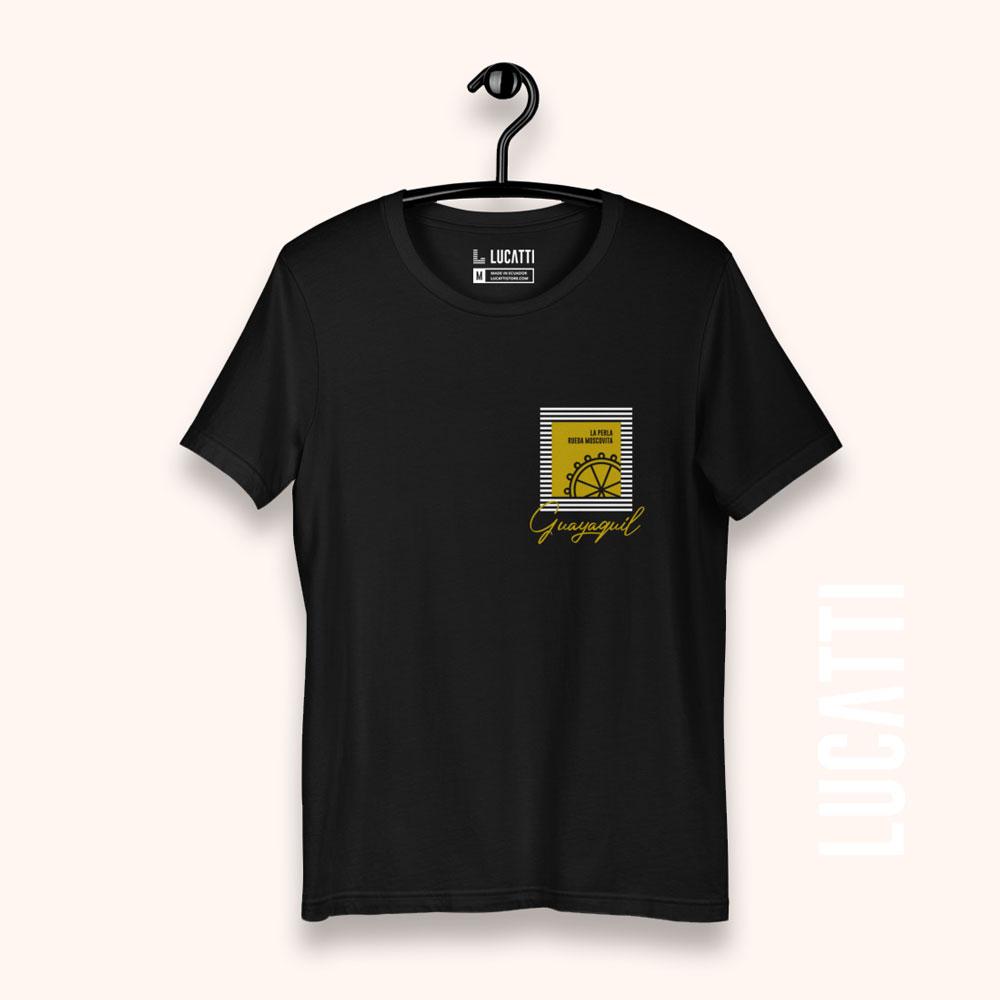 Camiseta con estampado de bolsillo Guayaquil rueda moscovita mujer