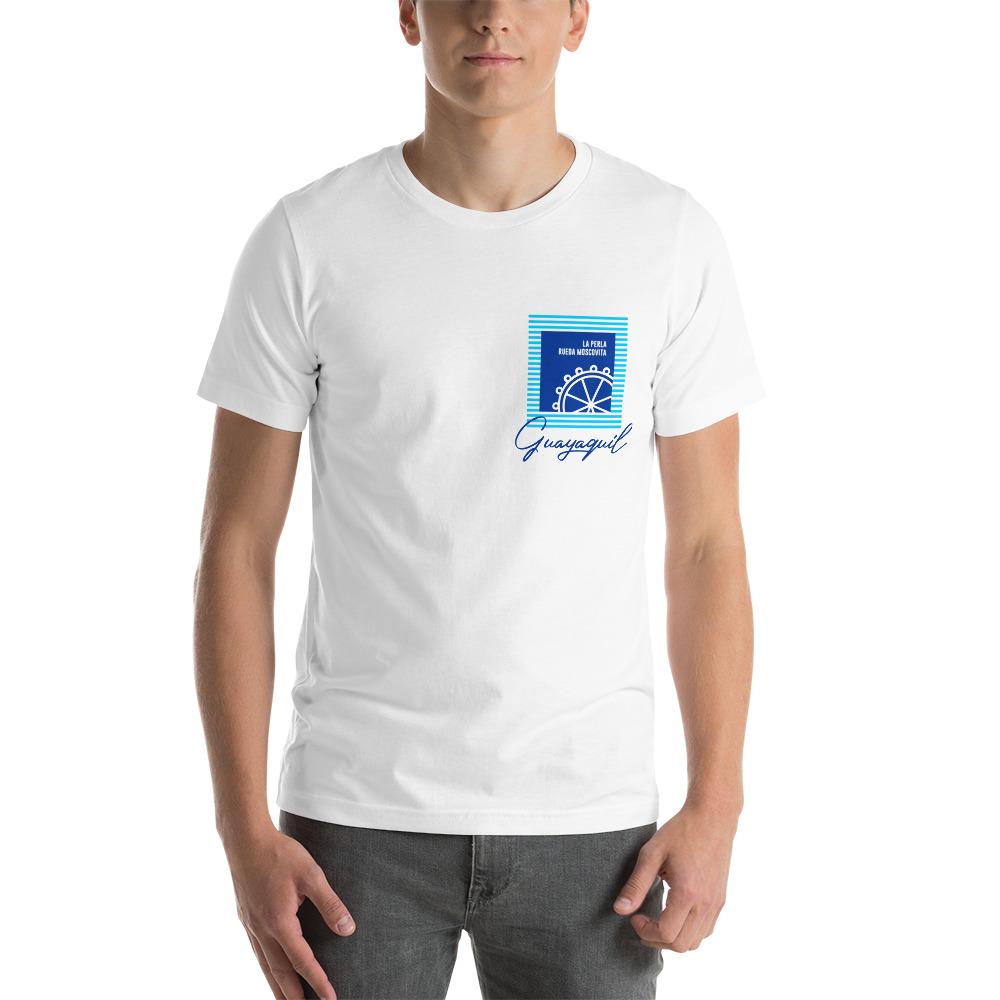 Camiseta con estampado de bolsillo Guayaquil rueda moscovita hombre